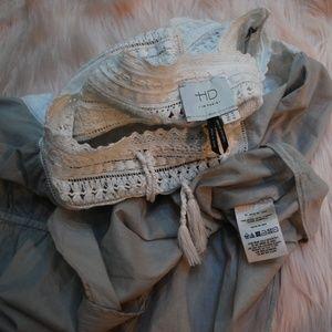 Anthropologie HD in Paris Cotton Crochet Blouse